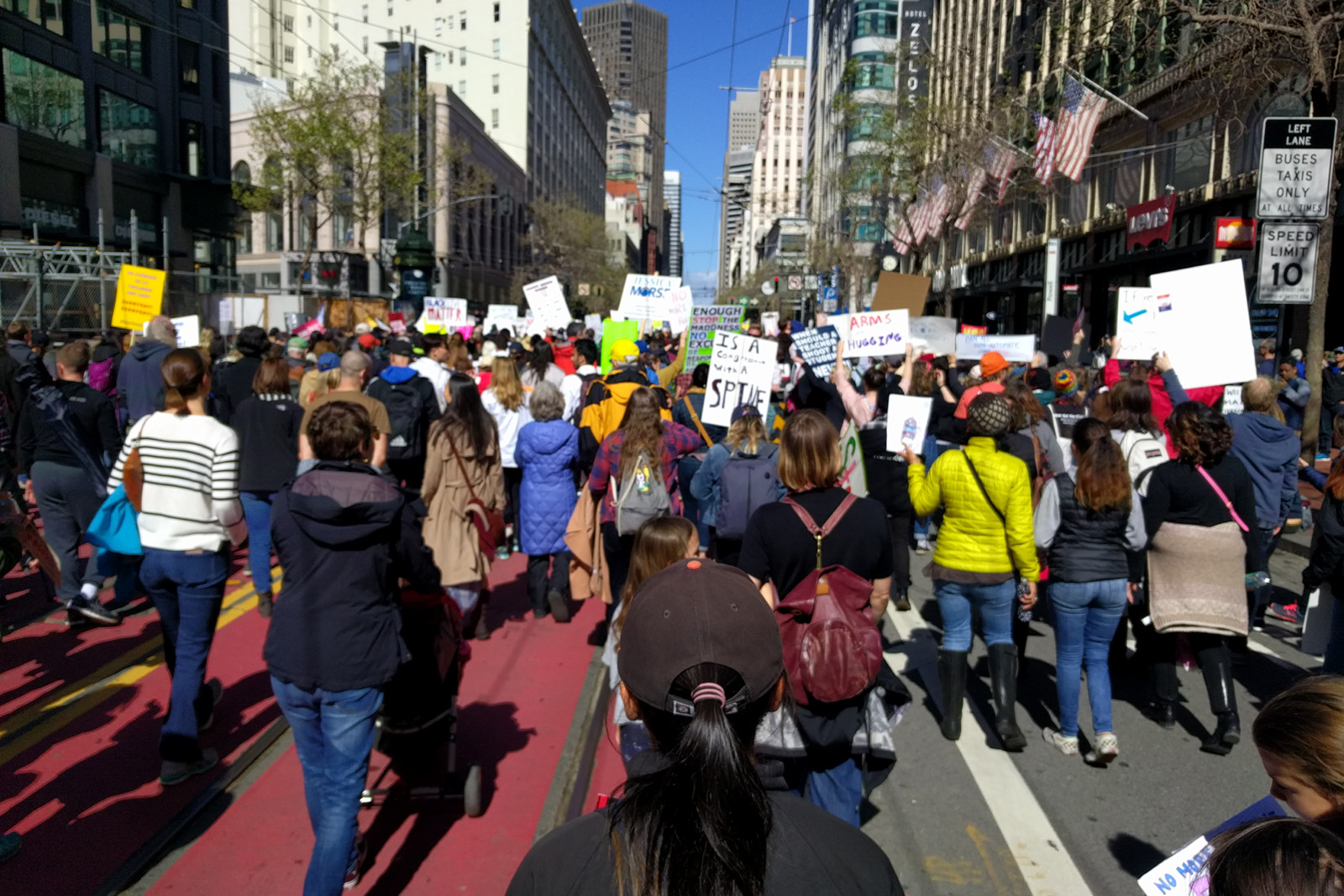 Marching down Market Street in San Francisco at the March for our Lives