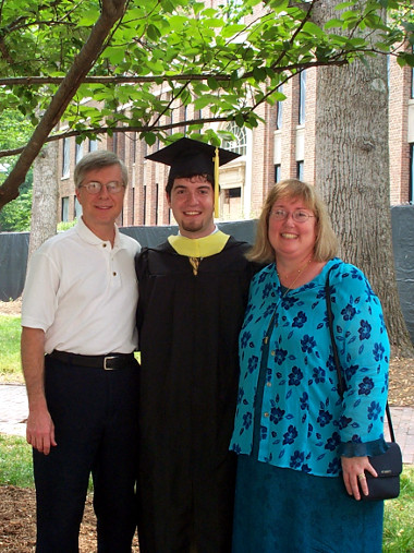 Masters Graduation with Mom and Dad