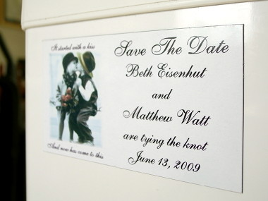 Matthew and Beth's Save the Date magnet