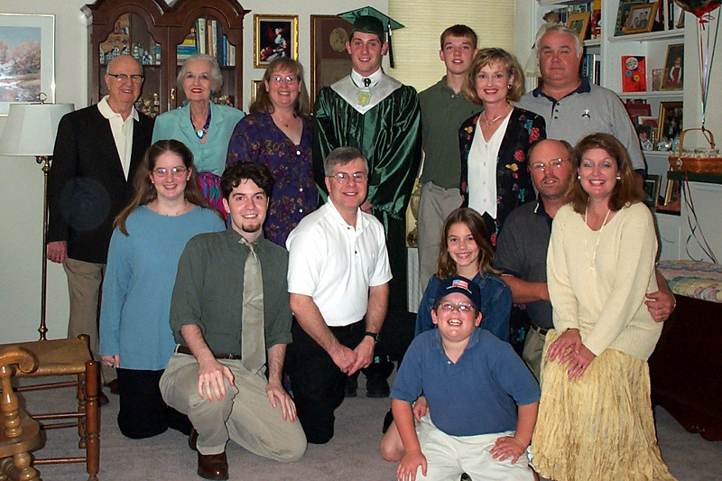 Matthew's High School Graduation, family group shot