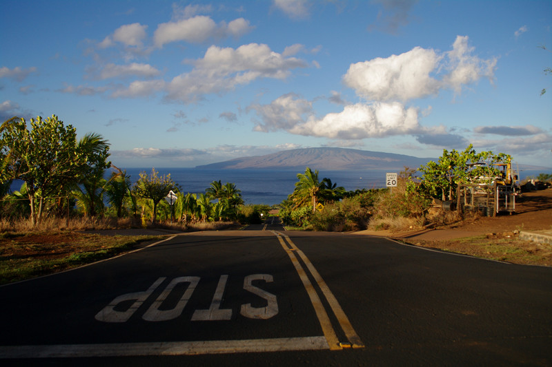 Finally, the top of Lanai is visible
