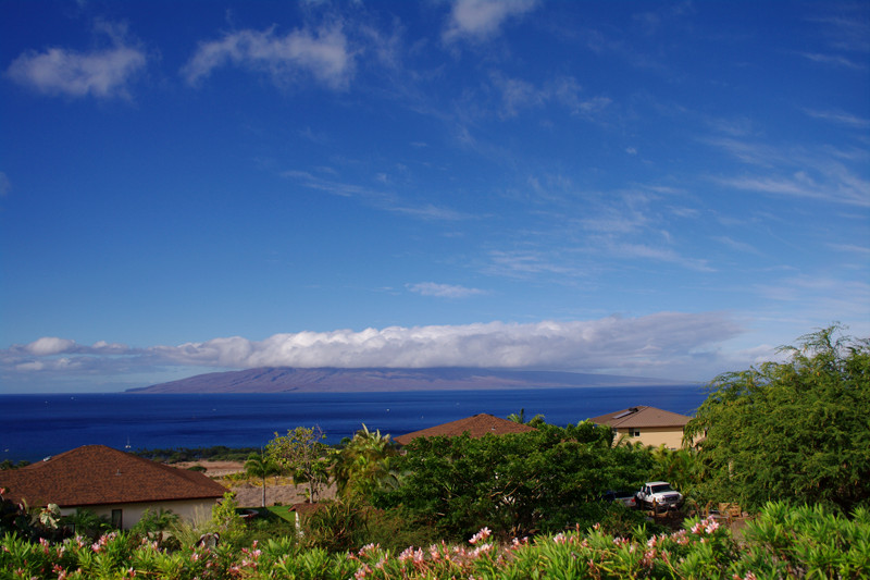 The incredible view from our rental house in Maui, Hawaii