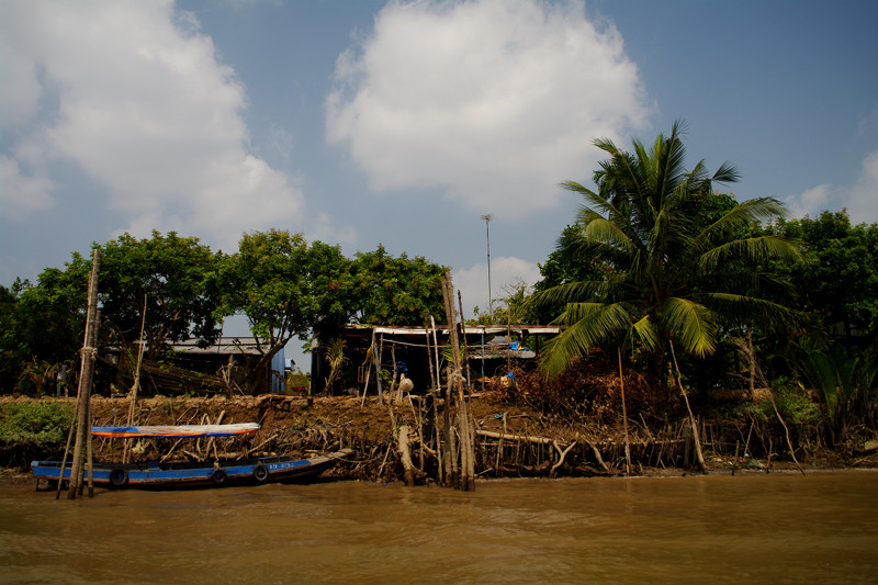 Shoreline of the Mekong Delta