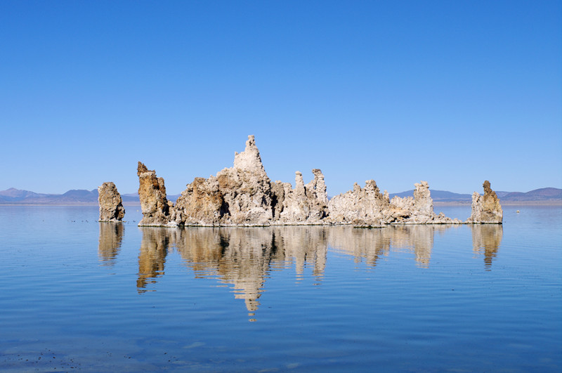 A tufa island in Mono Lake