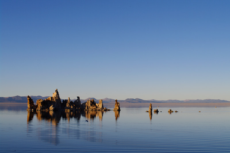 The tufa island at sunset