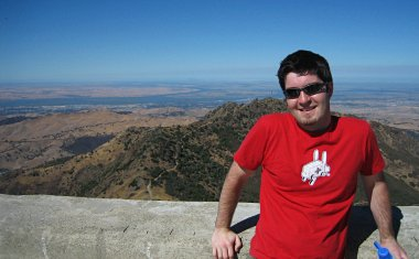 Justin at the top of Mount Diablo