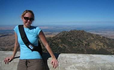 Stephanie at the top of Mount Diablo