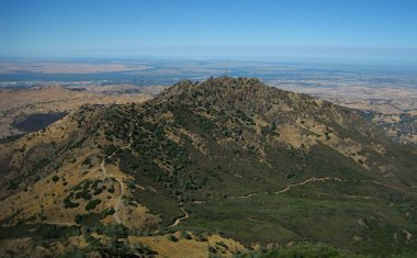 The view east from the summit of Mount Diablo