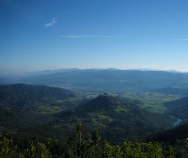 The view towards Calistoga