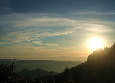 One of my favorite shots, a milky sunset from Mt. St. Helena