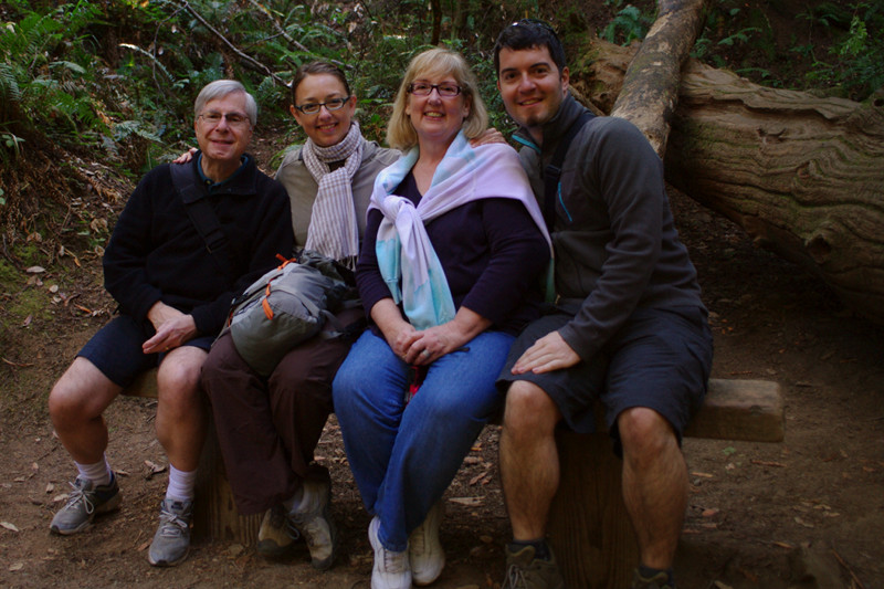 Brian, Stephanie, Kathleen, and Justin at Muir Woods