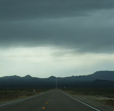 highway view in nevada