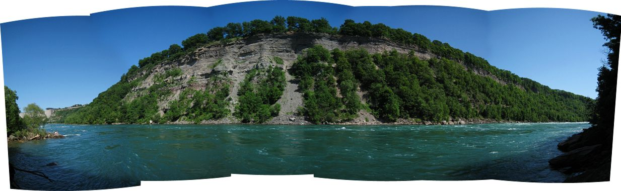 Panoramic view of the river gorge below Niagara Falls
