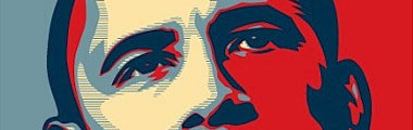 crop of the iconic Obama Hope poster