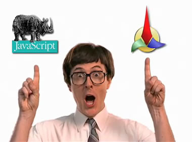 O'Reilly Media's JavaScript: The Definitive Guide featured in Weird Al Yankovic's White and Nerdy music video