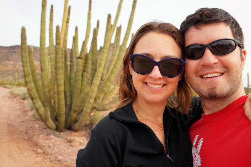 Stephanie and Justin in Organ Pipe Cactus National Monument