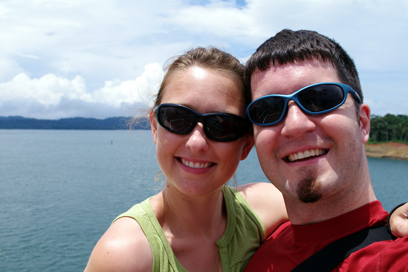 Justin and Stephanie with Gatun Lake in the background