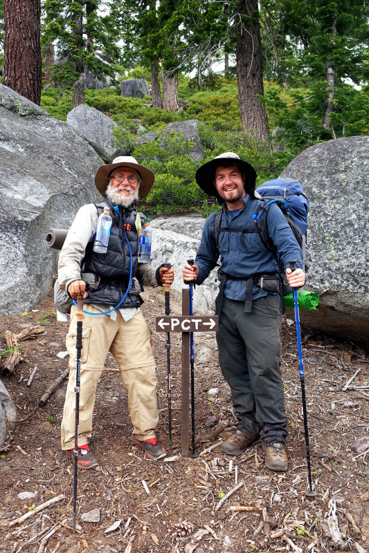 Brian and Justin at mile 1,092 of the PCT, after hiking 150 over 8 days together