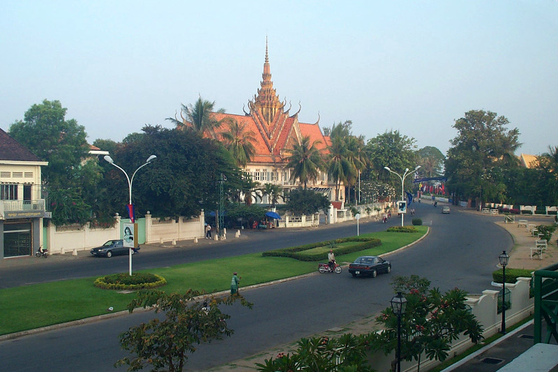 View of the Old National Assembly building from my hotel room in Phnom Penh