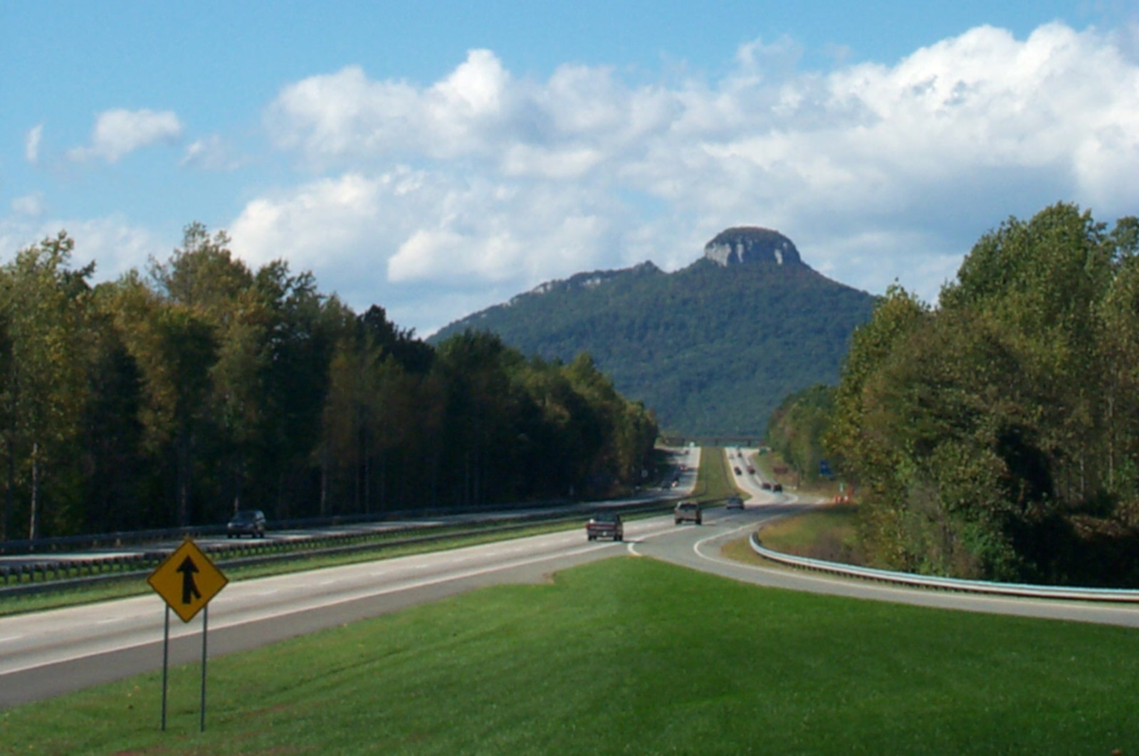 pilot mountain from scenic overlook
