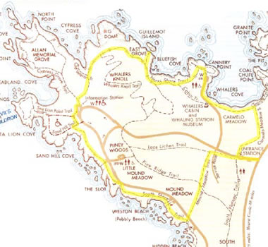 Point Lobos State Reserve Trail Map