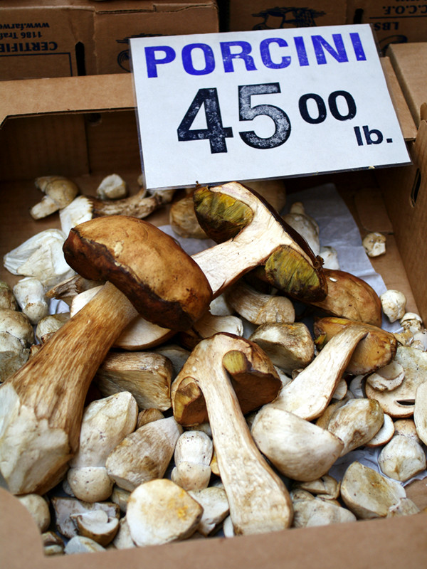 Porcinis for $45/pound at Far West Fungi in the San Francisco Ferry Building