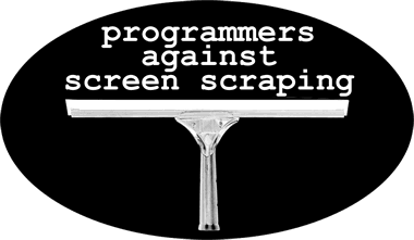 programmers against screen scraping