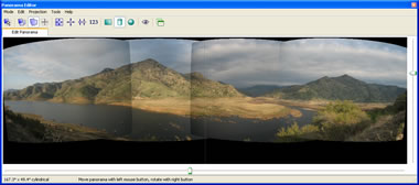 Screenshot of PTGui's panorama preview tool