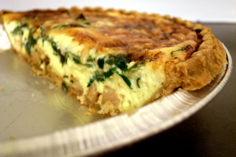 Quiche with red chard