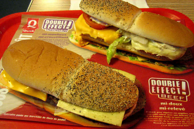 Quick's Double Effect! Chicken and Beef sandwiches