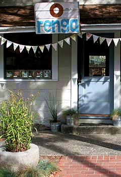 Storefront of Renga Arts in Occidental, California