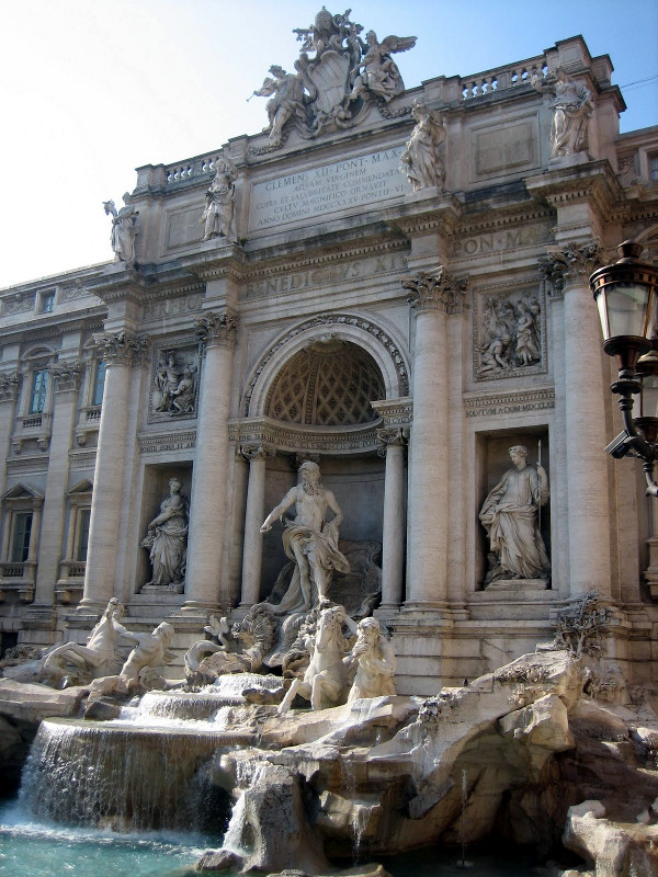 Trevi Fountain in Rome, Italy (copyright Kathryn Watt)