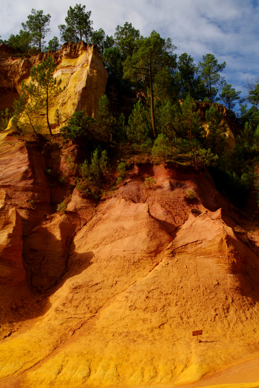 View from the Sentier des Ocres (ocher quarry trail) in Roussillon, France