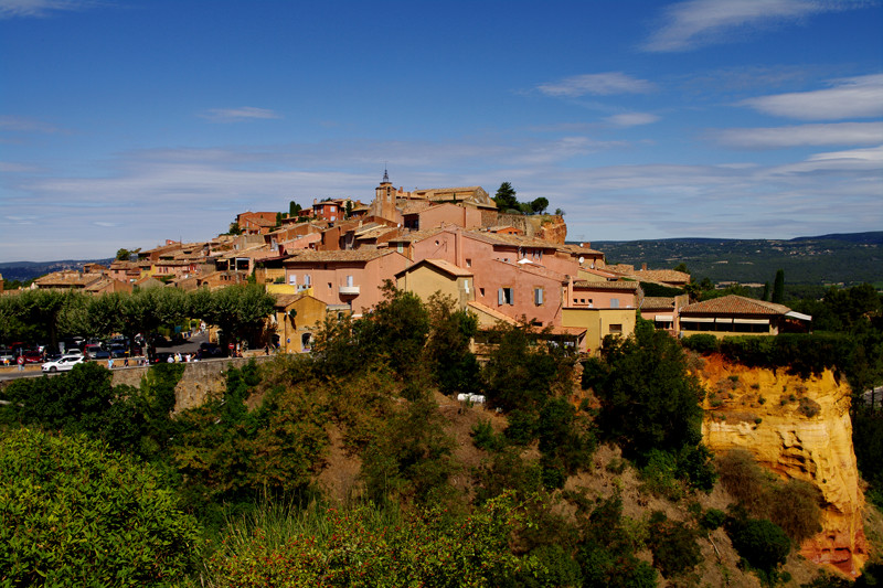 Roussillon village, Vaucluse, France