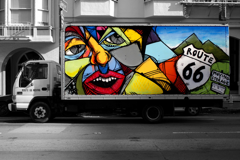 Route 66 moving truck