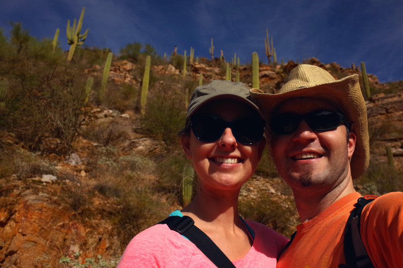 Stephanie and Justin in Sabino Canyon, Tucson, AZ