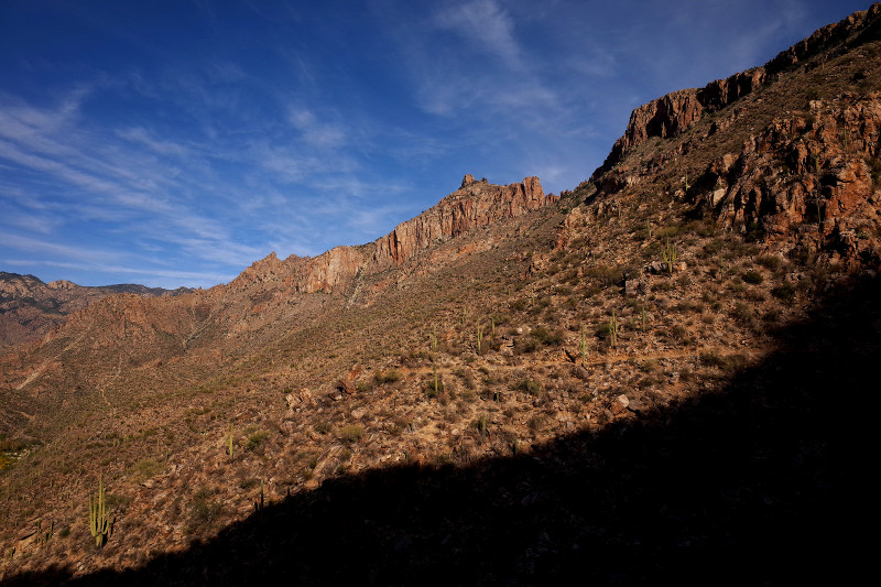 Canyon shadow in Sabino Canyon, Tucson, AZ