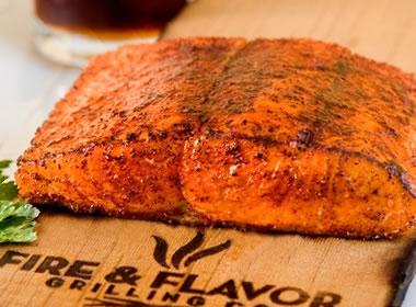 Cedar planked salmon - Justinsomnia