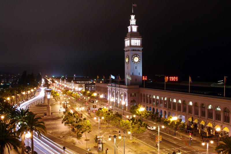 San Francisco Ferry Building and The Embarcadero ...