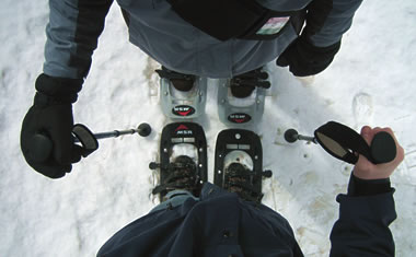 Suited up in modern snowshoes