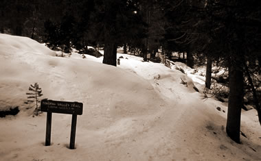 Tokopah Valley Trailhead at Sequoia National Park