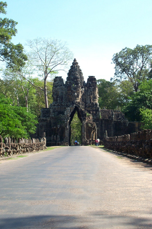 South gate of Angkor Thom, the largest complex at Angkor, and the last capital of the Khmer empire