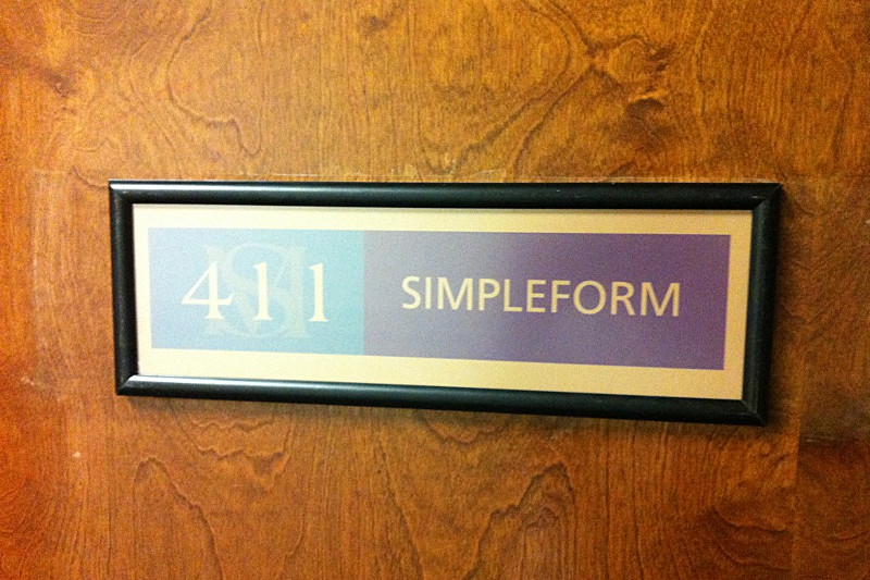 Simpleform door sign