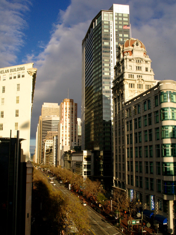 View from Sincerely's offices on Market Street in San Francisco