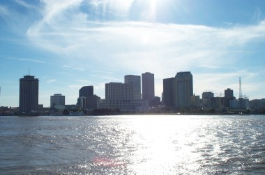 new orleans skyline from the mississippi