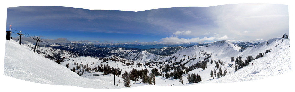 Panorama of Lake Tahoe from the top of Emigrant Peak (Squaw Valley)