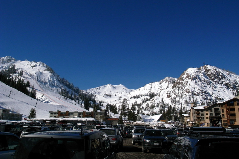Squaw Valley slopes from the parking lot