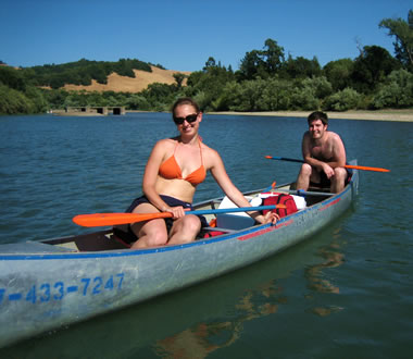 Stephanie and Justin on the Russian River