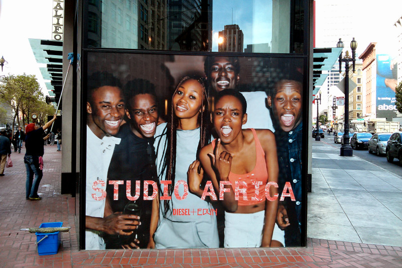 Diesel's Studio Africa ad on Market St in San Francisco