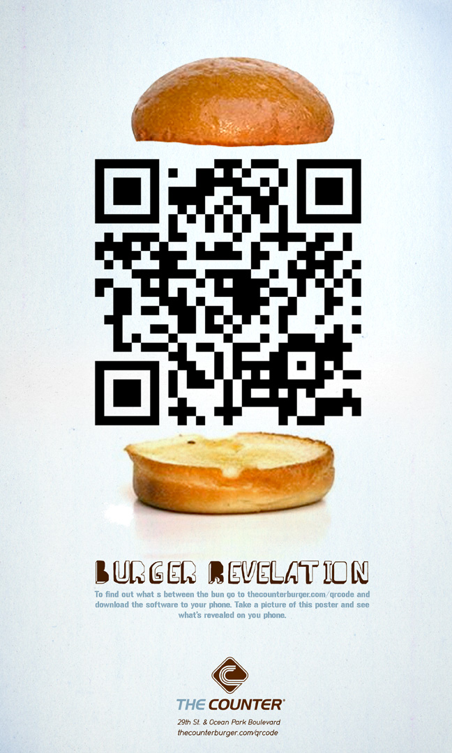 Ad mockup for The Counter displaying a QR Code that points to justinsomnia.org